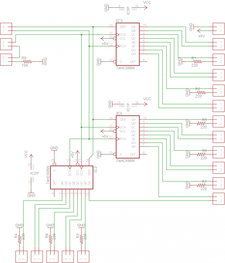 8 RGB LED Controller EAGLE schematic